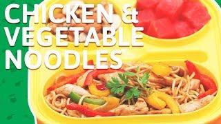 Chicken Stir Fry Noodles - Pan Fried Chicken Vegetable Noodles - Chicken Veg Noodles