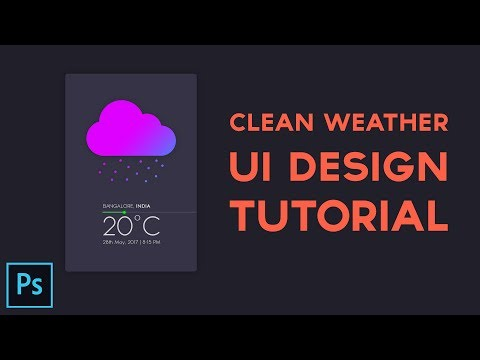 Create a Simple & Clean UI Design in Photoshop CC - 2017
