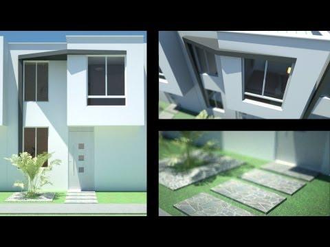 Projeto casa 3d sobrado 5x25 doovi for Casa moderna minimalista interior 6m x 12 50m