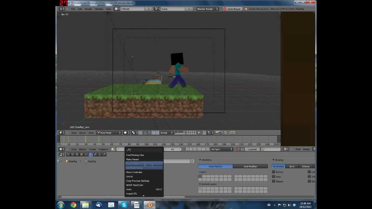 How to Make 3D Minecraft Animations with Blender - BlenderNation