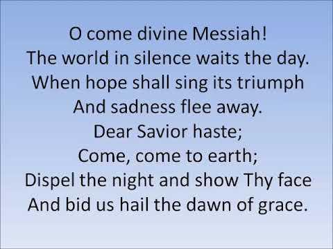 O Come Divine Messiah (demo)