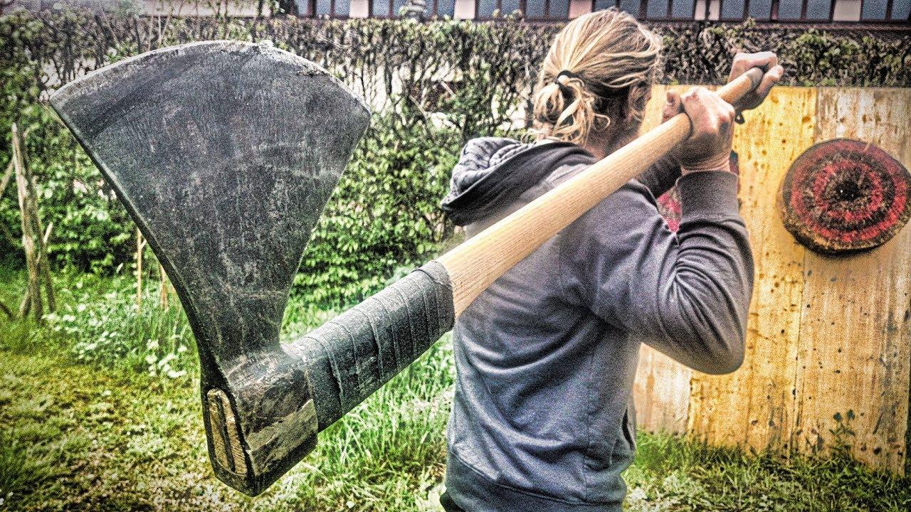 LONGEST Axe Thrown EVER (Viking Dane Axe)