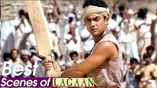Lagaan Movie Best Scene | LAGAAN Cricket Match Scene Amir Khan Team Win By British Team