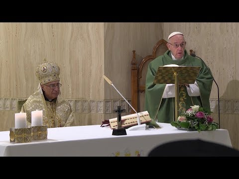 Pope Francis holds Mass in Casa Santa Marta for persecuted Christians