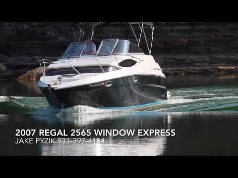 Cruiser For Sale 2007 Regal 2565 Window Express. SOLD