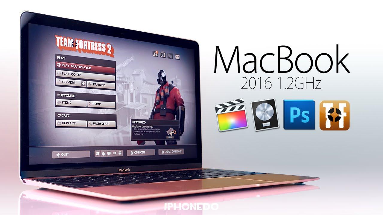 macbook 1 2ghz photoshop logic pro x final cut pro x team fortress 2 4k youtube. Black Bedroom Furniture Sets. Home Design Ideas