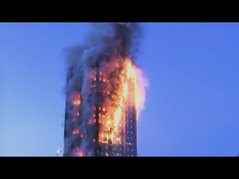 London Apartment Building Smoldering After Fire