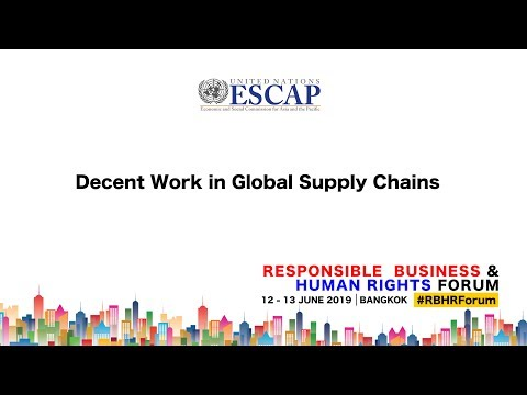 Decent Work in Global Supply Chains