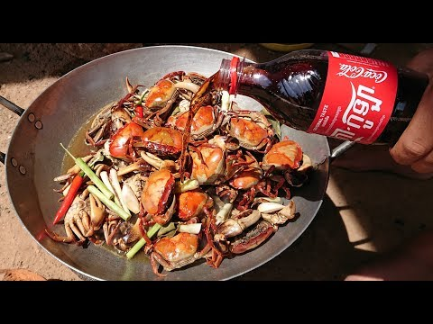 Awesome Girl Cook Crab With Coca Cola  Cooking Crab In Cambodia