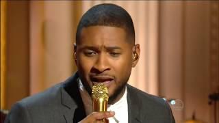 Usher sings