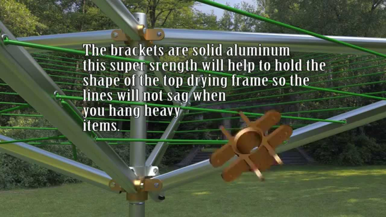 Nice Outdoor Clothesline Breezecatcher Umbrella Folding Clothes Line