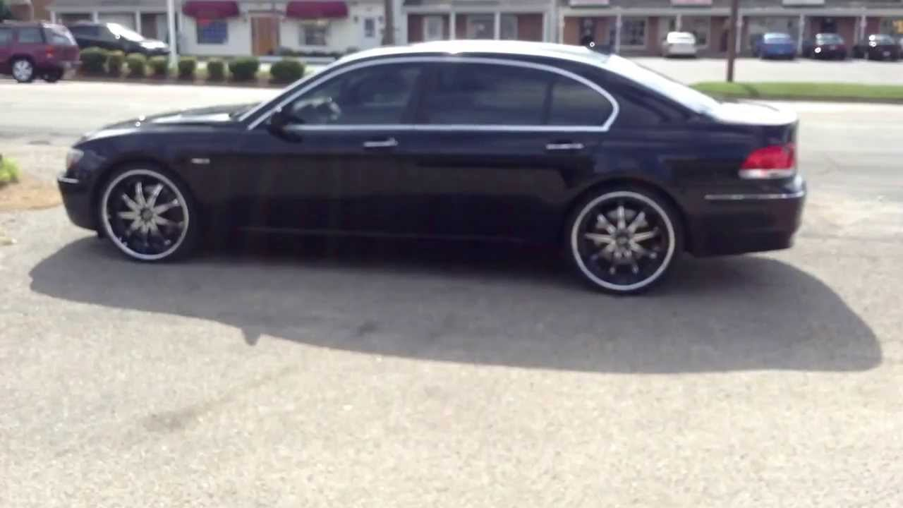 "2007 BMW 750Li sitting on staggered 22"" Motiv 408cb 22x9 Front 22X10.5 Rear wrapped in NEXEN ..."