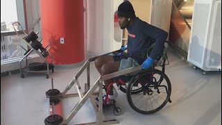 After accident left him paralyzed, former Illini Bobby Roundtree fights to walk again