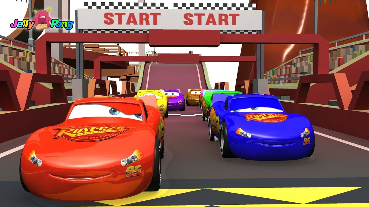 Learning Color Disney Pixar Cars Lightning Mcqueen Track Racing Play