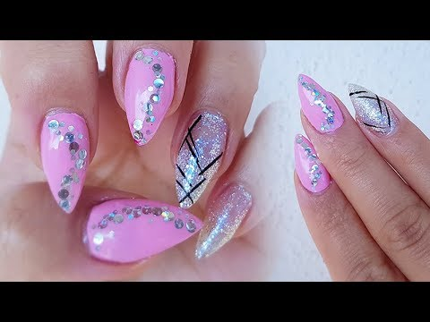 Simple Pink And Silver Nail Design and need your help!!! - Simple Pink And Silver Nail Design And Need Your Help!!! - YouTube