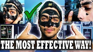 HOW to use a CHARCOAL PEEL OFF MASK effectively and properly step by step | URBANGABRU CHARCOAL MASK
