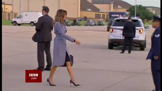 Melania Trump plane forced to land (USA) - BBC News - 17th October 2018
