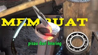#golokIndonesia Lihatlah! Proses pembuatan pisau dari bearing
