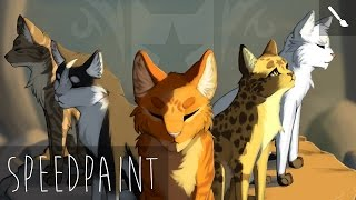 The Five Giants - warriors speedpaint