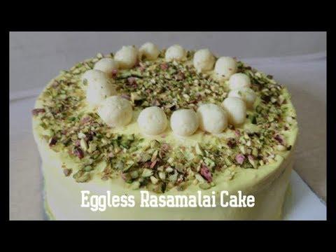 Eggless Rasamalai Cake Recipe | Fusion Cake
