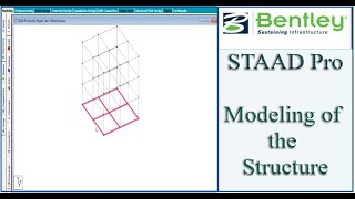 STAAD Pro Tutorial For Beginners [Episode 12]: Modeling Of The Structure