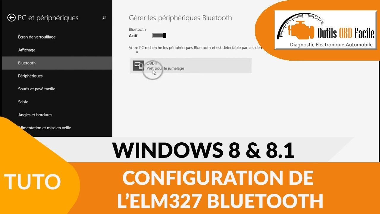 [TUTO] Comment configurer un ELM327 Bluetooth sur Windows 8
