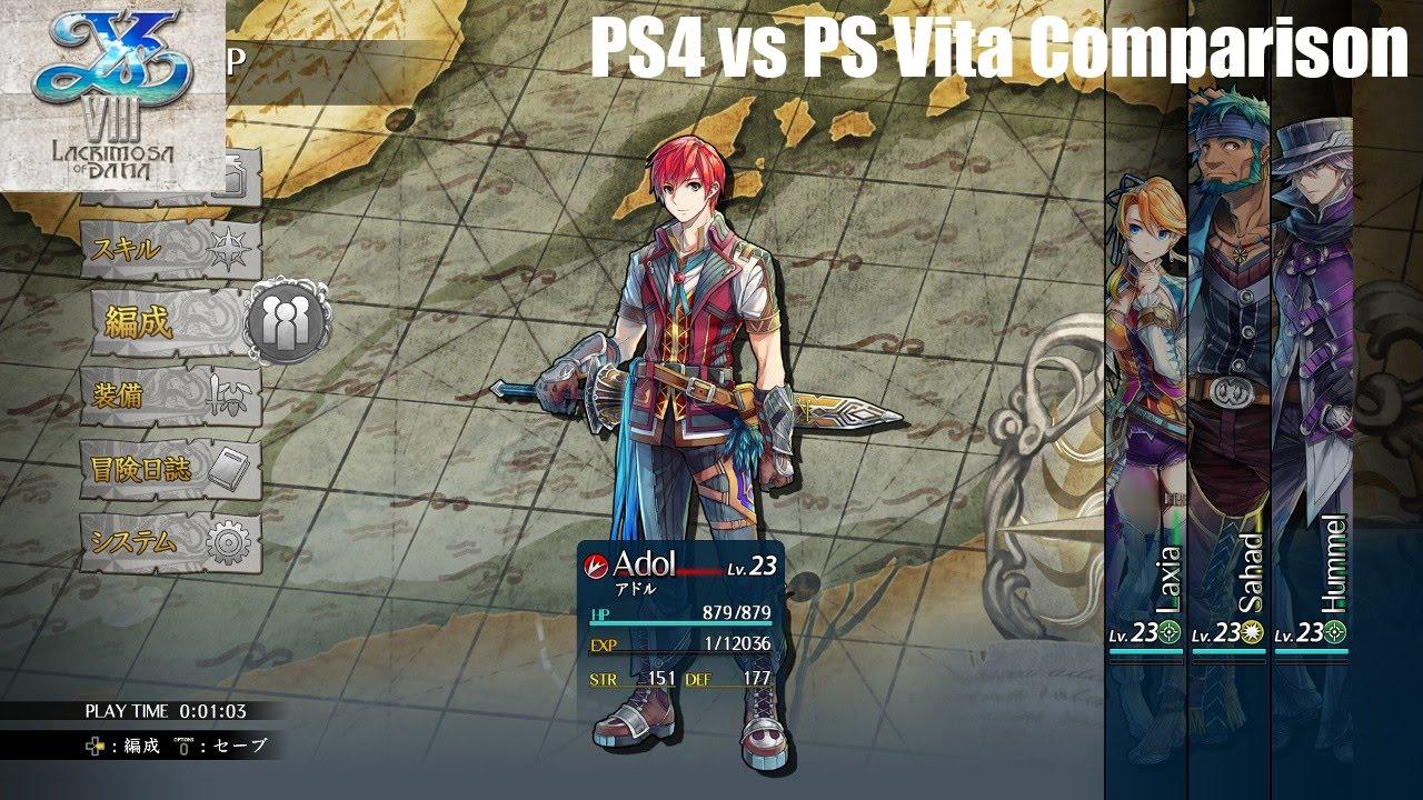 Ys VIII: Lacrimosa of Dana - PS4 vs PS Vita Comparison ...