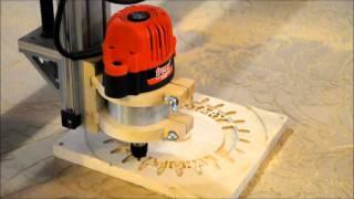 Midnight Robotics DIY CNC carving a Rotary Club sign