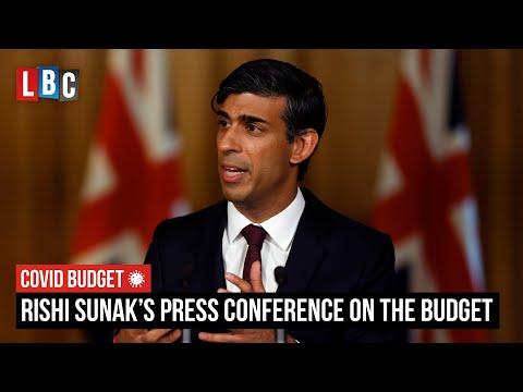 Live: Rishi Sunak's press conference on The Covid Budget 2021 | LBC