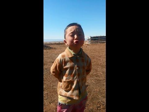 Mongolian little boy sings national music like a professional