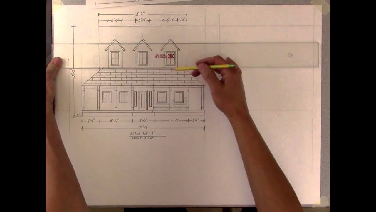 How to create basic blueprints elevation view youtube how to create basic blueprints elevation view malvernweather Image collections