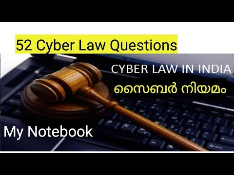52 Important Questions on Cyber laws for PSC exams - YouTube