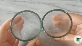 How to cut glass bottle with fire step by step / with full details