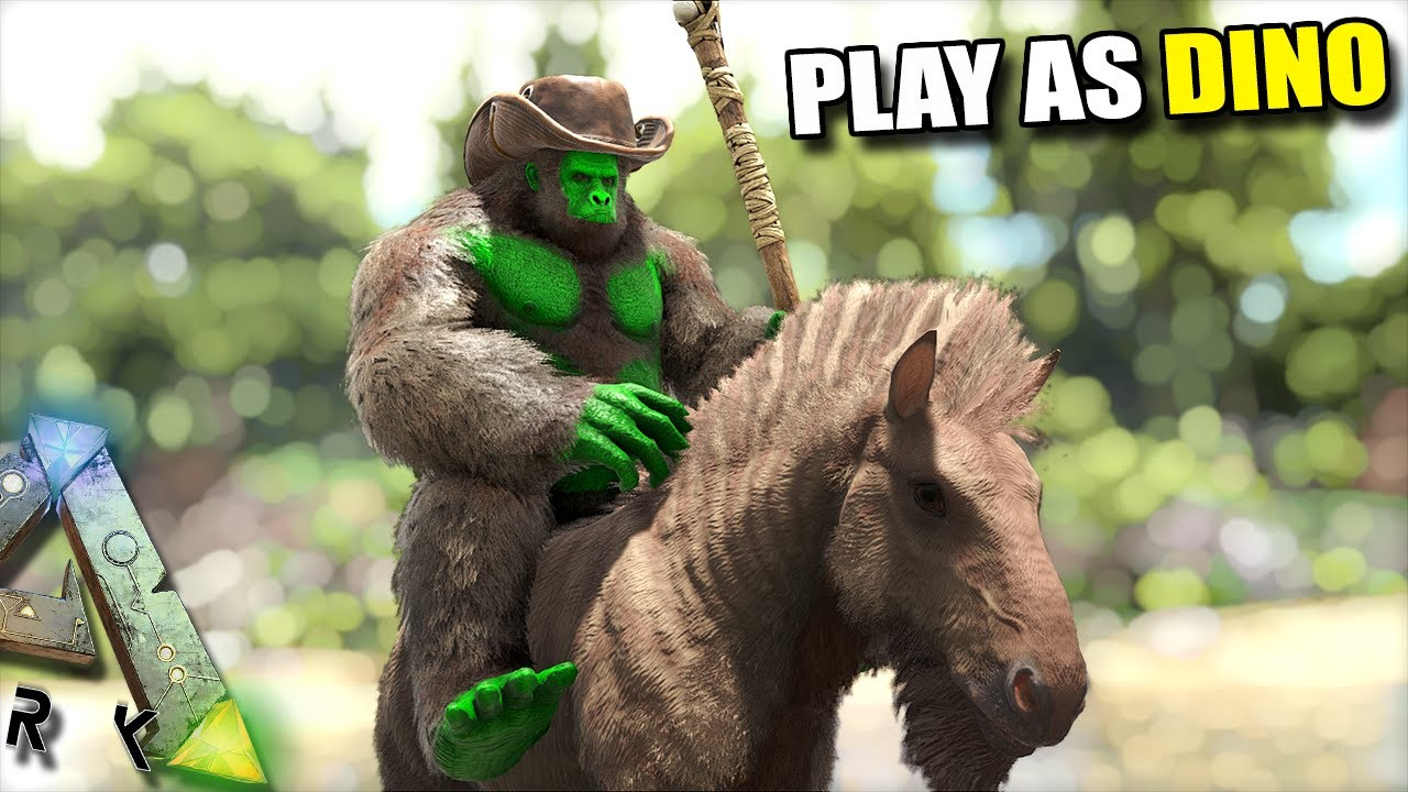 THE MONKEY MEN CAN RIDE AND TAME OTHER CREATURES!! | PLAY AS DINO | ARK  SURVIVAL EVOLVED