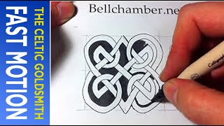 How to Draw Celtic Patterns 159 - Double Heart Triskele (Fast Motion 5)