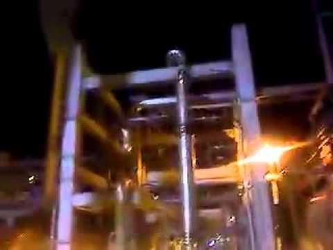 Crane in refinery