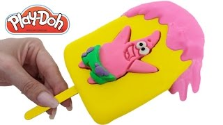 play doh how to make a patrick slime jelly spongebob ice cream popsicle rainbowlearning