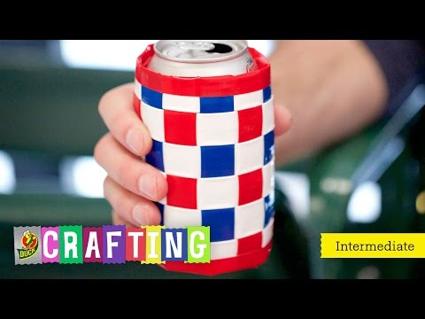 How to Craft a Duct Tape Woven Drink Holder
