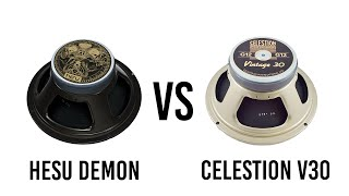 Hesu Demon vs Celestion V30 - Metal Comparison with Ibanez RG2550Z