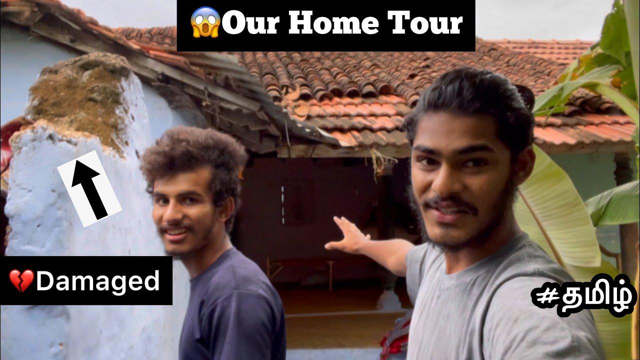 😱Our Home Tour | 💔Damaged | Vintage home tour | part - 01 | Tamil |
