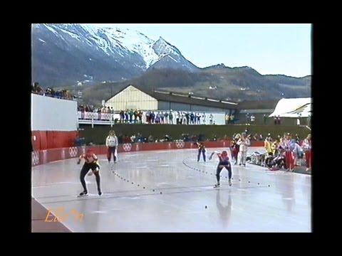 Winter Olympic Games Albertville 1992 - 500 m Blair (Gold) -  Hauck