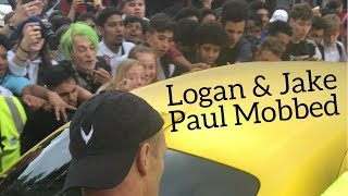 Logan Paul & Jake Paul Get Mobbed Leaving London Press Conference and Greg Paul Punched!