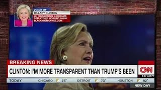 Hillary Clinton Laughed at After Saying She's the Most Transparent Candidate Ever - 9/15/16