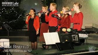"""FECG Lahr - Weihnachtskonzert - Fam. Binefeld - """"Das Fest stand vor der Tür"""""""