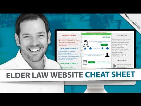 Elder Law Website Cheat Sheet