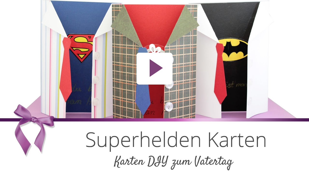 diy superhelden karte vatertag danato youtube. Black Bedroom Furniture Sets. Home Design Ideas