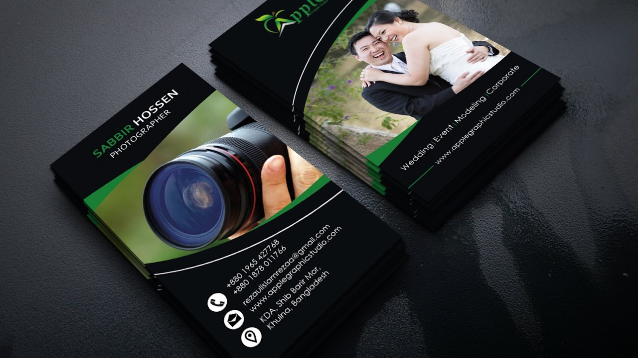 How to design a photography business card photoshop tutorial youtube reheart Image collections