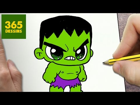 Comment Dessiner Hulk Kawaii étape Par étape Dessins