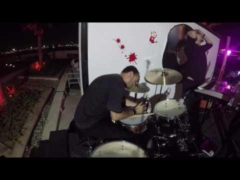 Leo Ehrlich Playing drums at Crowne Plaza - Yas Island - Abu Dhabi - 1