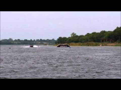 Waterski Jump: Aaliyah jumps 22m practice at Rabbit Lake Bangkok